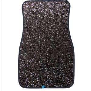 Dark Grey Glitter car mat (set of 2 mats)